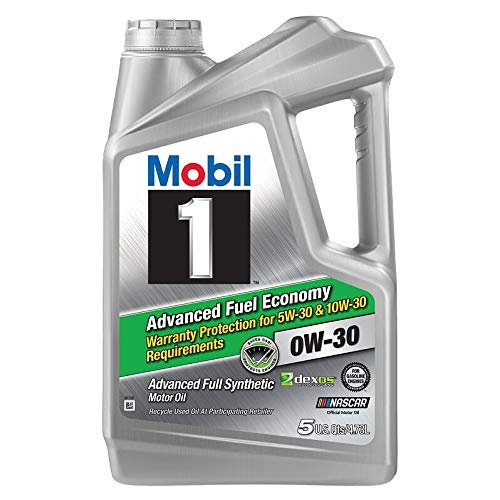 Mobil 1 Advanced Fuel Economy Full Synthetic Motor Oil 0W-30, 5QT