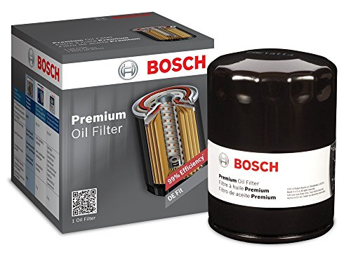 Bosch Automotive 3334 Premium FILTECH Oil Filter for Select Buick, Cadillac, Chevrolet + More, black