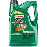 Castrol 03102 GTX High Mileage 5W-30 Motor Oil - 5 Quart